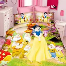 New Snow white and seven Doorf Disney bedding set of duvet cover and pillowcase