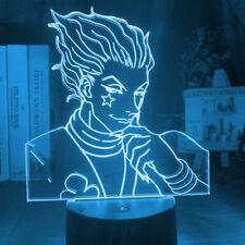 LED Night Light Lamp Hunter X Hunter Anime Smirk Touch Control 3D 7 Color