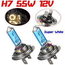 2x H7 12V 55W Xenon White Halogen Car Headlight Head Front Light Lamp Globe Bulb
