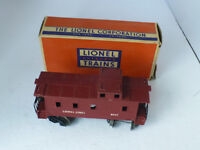 lionel electric train car #6017 caboose o scale w/box damaged see photo's