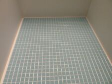 More details for dolls house miniature 1:12th kitchen bathroom blue checked embossed flooring