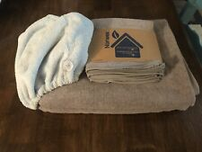 Norwex 2 Brand New Bath Towels, pack of 3 face and body clothes and Hair Wrap!