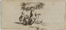 La Sra. + anclaje pequeñísimo original Picart grabado para 1730 niño Krug en miniatura