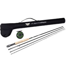 Fenwick Pfleuger Nighthawk 5WT Conplete Fly Fishing Rod Reel Combo w/ Hard Case