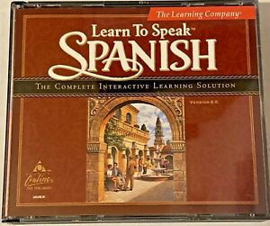 Spanish, The Learning Company, Learn To Speak Spanish, V, 8.0, 4 CD-ROM's, 1999