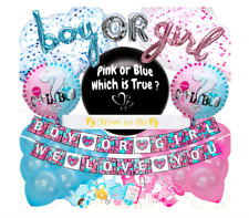 TruPeak Gender Reveal Party Supplies 100 PCS Confetti Balloons Decor Photo Props