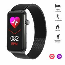 Stainless Steel Smart Watch Sport Fitness Tracker Bracelet Steps Count Pedometer