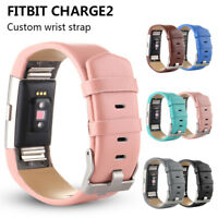 Luxury Leather Wrist Watch Band Strap For Fitbit Charge2 Sport Bracelet Fashion
