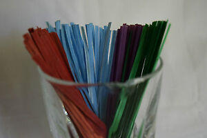 4 Inch Paper Twist Ties Multiple Colors