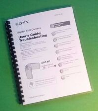 LASER PRINTED Sony DSC M2 Camera 108 Page Owners Manual Guide