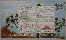 Greenland Mini Block 1999 ARCTIC WIKINGS  AFA 348  - Scott 351-352-353-354a
