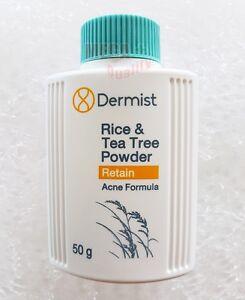 DERMIST RICE and Tea Tree Powder Acne Formula Reduce UV Brightening Skin 50g.