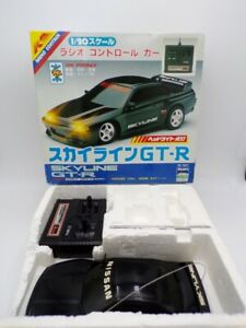 Vintage 90's Asahi Atcomi Japan 1/20 Nissan Skyline GT-R RC Car Taiyo Nikko