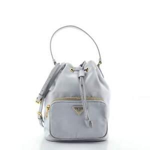 Prada Drawstring Bucket Bag Tessuto Small