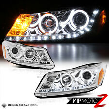 Euro Chrome LED Projector Headlight+DRL Pair Assembly 2008-12 Honda Accord 4DR