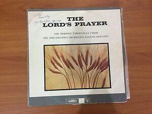 Vinyl LP - The Lord's Prayer by the Mormon Tabernacle Choir.