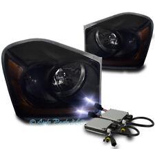 04-05 DODGE DURANGO CRYSTAL REPLACEMENT HEADLIGHT LAMP BLACK/SMOKE W/10K HID KIT