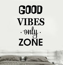 Vinyl Wall Decal Quote Positive Room House Interior Stickers Mural (ig4284)