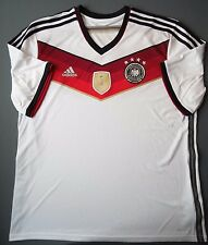 5+/5 GERMANY World Cup 2014 ORIGINAL SOCCER Adidas M35022 Shirt Jersey FOOTBALL