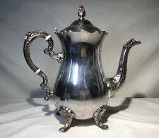"Vintage LEONARD Silver Plate Tea/Coffee POT 10"" Tall Estate Find"