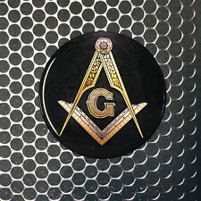 "Mason Masonic Freemason Domed Decal car Emblem 3D sticker 2.5"" Square & Compass"