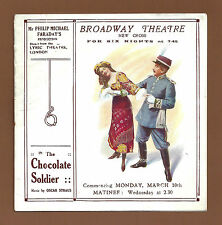 "Oscar Straus ""CHOCOLATE SOLDIER"" Philip Michael Fraraday 1913 London Herald"