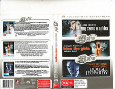 Along Came A Spider/Kiss The Girls/Double Jeopardy-Morgan Freeman-3 Movie-3 DVD