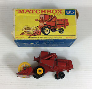Vintage Boxed Matchbox Series No.65 Claas Combine Harvester A/F 7.5cm Long
