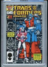 Transformers Universe #4 CGC 9.6 White Pages Black Cover