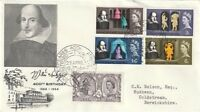23 APRIL 1964 SHAKESPEARE FIRST DAY COVER 400th ANNIVERSARY STRATFORD CANCEL