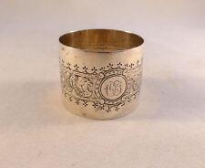 Danish 1899 830 Sterling Sea Serpent Napkin Ring-Mono Of