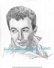 Actor Robert Taylor RARE StKenan Art Chicago Artist Print of 1940 Original