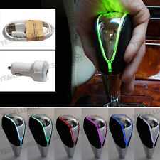 Touch Activated Sensor LED Light Car Gear Shift Knob RGB Multi-Color USB Charge
