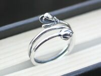 925 silver adjustable flower wrap ring flower jewellery Mother's day gift