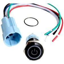 16mm Blue On Off LED 12V Latching Push Button Power Switch Waterproof J3B8
