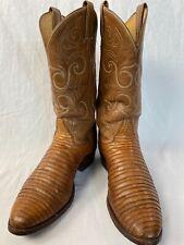 Vintage Tony Lama gold label tegu lizard cowboy boots 9.5D
