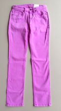 """Lands End Womens Pin Straight Lavender Jeans Size 25 Sits Below Waist 31"""" Inseam"""