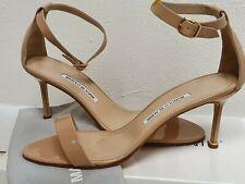 MANOLO BLAHNIK sandals size 40.5 SHOES Nude NEw