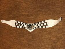 Unique Stylish Ladies Women's White / Silver Waist Belt - Small - Good Condition