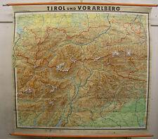 Schulwandkarte Karte Tirol Innsbruck Ortler Südtirol Trient Garda Alpen 198x186