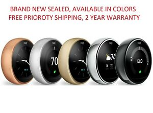 Google Nest Learning 3rd Generation smart Wifi thermostat all colors NEW