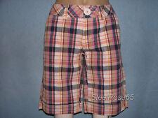 NEW Aeropostale Junior Girls Multi Colored Plaid Bermuda Shorts Size 5 / 6
