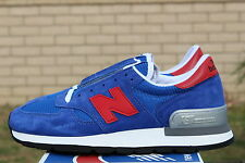 NEW BALANCE 990 SZ 11.5 BLUE RED GREY M990SB NB MADE IN THE USA NATIONAL PARKS
