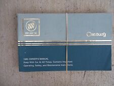 1985 Buick Century / Estate Wagon Owner Manual Operating Safety Maintenance  R