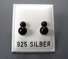 NEU 925 Silber OHRSTECKER mit PERLEN in schwarz PERLENOHRRINGE OHRRINGE