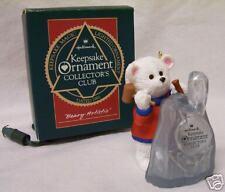 """1991 Hallmark Club Ornament - """"Beary Artistic"""" Lights Up - Polar Bear"""