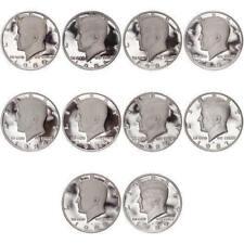 1980 - 1989  Kennedy Half Dollar Proof Run Set 10 US Coins