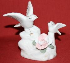 Vintage Handcrafted Porcelain Floral Birds Figurine