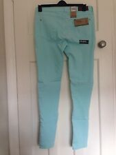 Women's Firetrap Styler Mint Green Skinny stretch Jeggings Jeans Size 34L