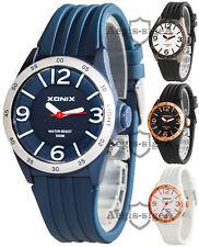 Analog XONIX watch, unisex, quartz, silicone strap, backlight, WR100M